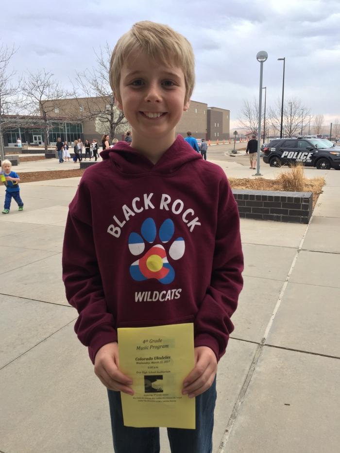Josh 4th grade concert