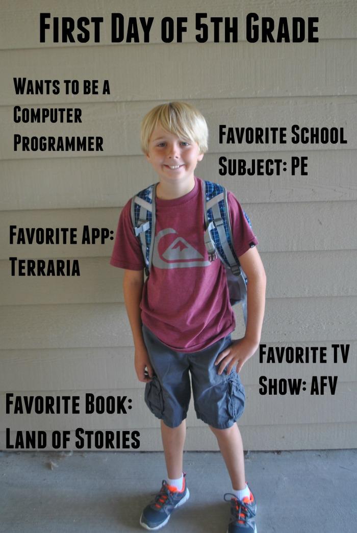 Josh 5th Grade