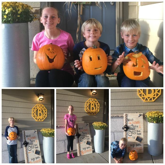 Carving pumpkins 2017