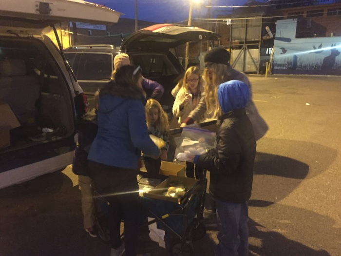 Taking Warm meals to the Homeless in Denver