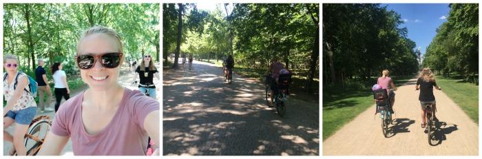 biking in Tiergarten